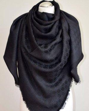 Gucci Silk Scarf dark blue-black