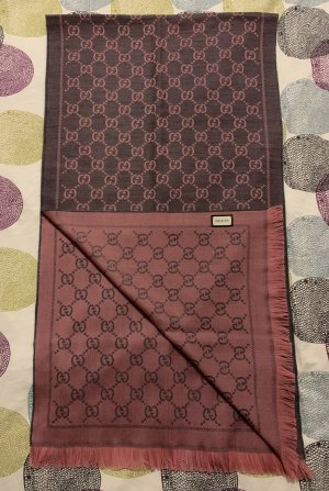Gucci Woolen Scarf rose-gold-coloured-mauve wool