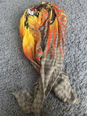 Gucci Zijden sjaal beige-oranje