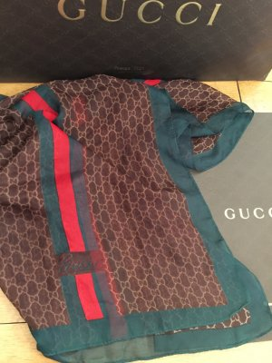 Gucci Scarf forest green-brick red