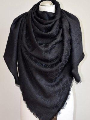 Gucci Zijden sjaal zwart-donkerblauw