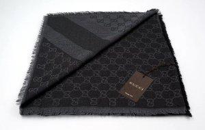 Gucci Zijden sjaal antraciet-grijs