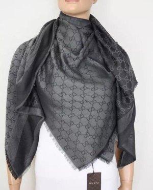 Gucci Wollen sjaal grijs-antraciet