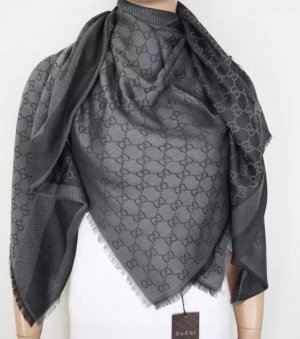 Gucci Zijden sjaal grijs-antraciet