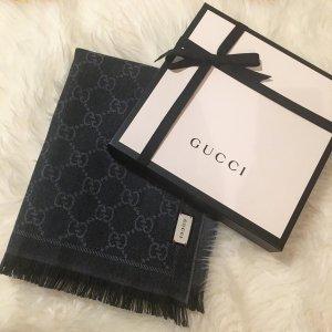 Gucci Schal Grau/dunkel Grau