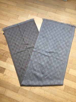 Gucci Bufanda de lana gris-marrón grisáceo