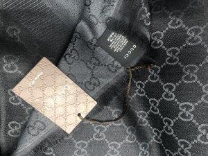 Gucci Silk Scarf black-grey