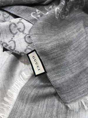 Gucci Schal neu original mit Rechnung und OVP grau/ weiß