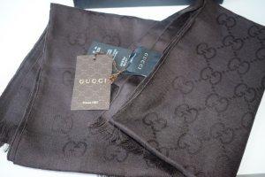 Gucci schal scarf braun neu