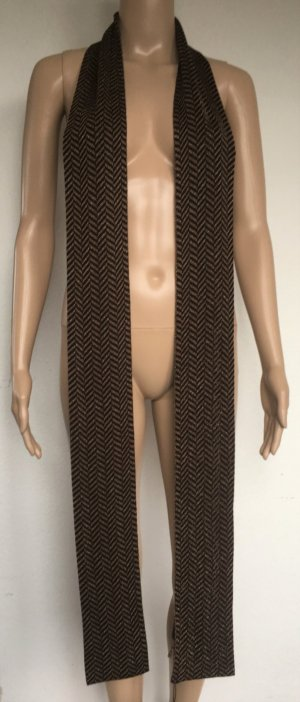 Gucci Knitted Scarf black-brown mixture fibre