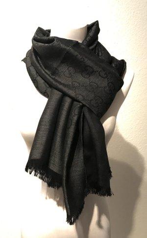 Gucci Schal, schwarz-grau, neu