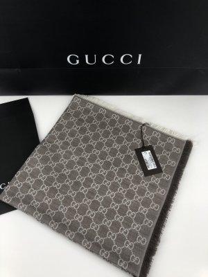 Gucci Schal Tuch 140x140 Neu Wolle/Seide