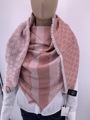 Gucci Bufanda de lana color rosa dorado