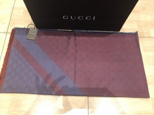 GUCCI Schal Tuch 2Farbe Große-140x140cm Wolle,Seide