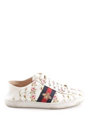 "Gucci Sneakers met veters ""Ace Rose print sneaker"""