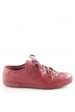 Gucci Schnürsneaker rot Allover-Druck Casual-Look