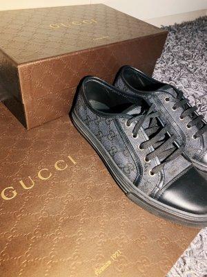 Gucci Basket à lacet noir-gris