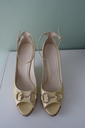 Gucci High Heel Sandal pale yellow-gold-colored