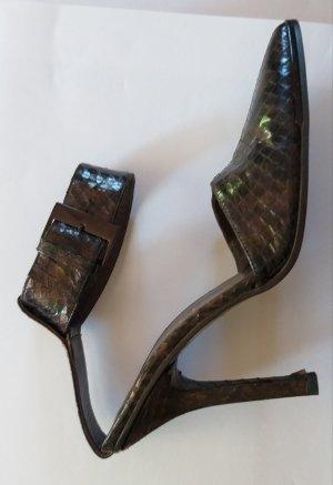 Gucci Hoge hakken oker-grijs-bruin Reptielenleer