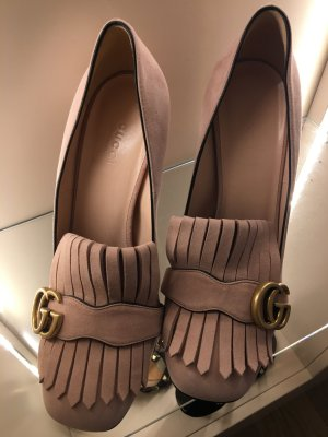Gucci High Heels dusky pink leather