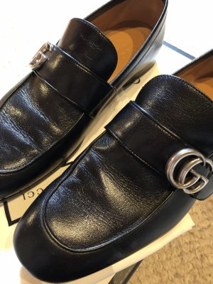 Gucci Schuhe Quentin Loafers Calfskin Nero Gr. 40