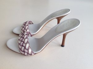 Gucci High Heel Sandal natural white-blue violet leather