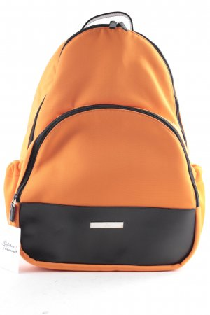 Gucci School Backpack black-neon orange athletic style