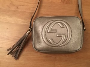 Gucci Handbag gold-colored-black leather