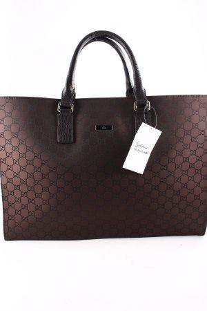 Gucci Schultertasche dunkelbraun-schwarzbraun Business-Look