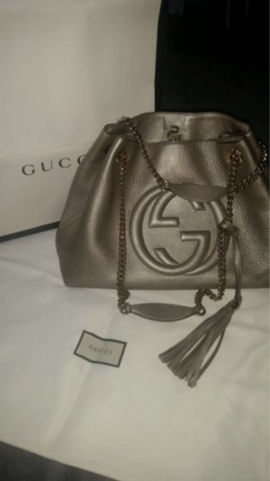 Gucci Schultertasche Metallic