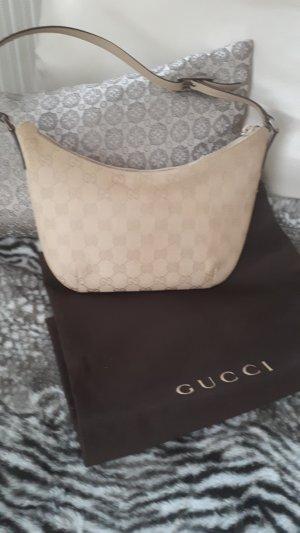 Gucci Schultertasche Pochette beige + Staubbeutel
