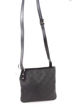 Gucci Schultertasche schwarz Monogram-Muster klassischer Stil