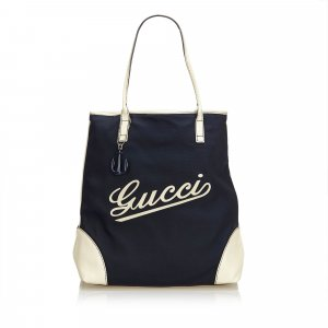 Gucci Tote blauw Nylon