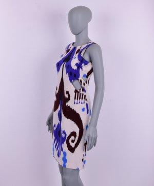 Gucci Seide Kleid Blau Weiß Gr. IT 40 - Deutsche Gr. 34