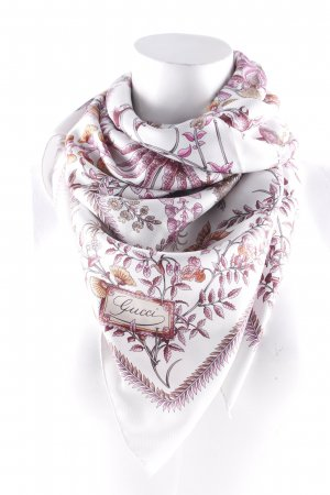 Gucci Silk Scarf floral pattern romantic style
