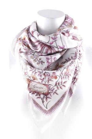 Gucci Seidenschal florales Muster Romantik-Look