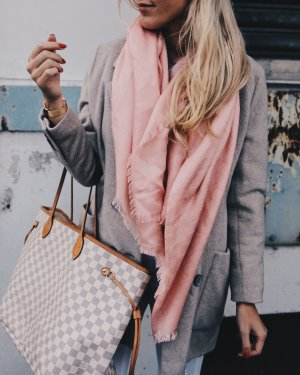 """Gucci Sciarpa di seta """"Guccissima Scarf Light Pink"""" rosa chiaro"""