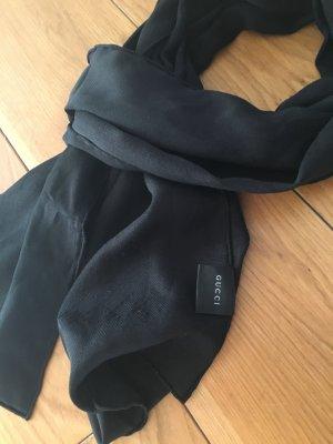 Gucci Écharpe en soie noir soie