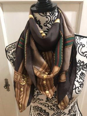 Gucci Silk Cloth dark brown-forest green