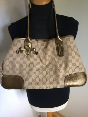 Gucci Sherry Line GG Canvas Leder Gold