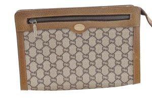 Gucci Clutch bruin Textielvezel