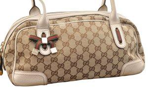Gucci Sac à main brun fibre textile
