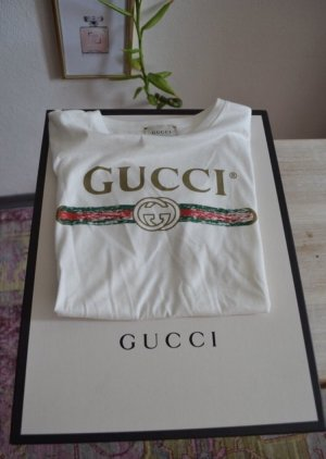 Gucci Camiseta estampada blanco