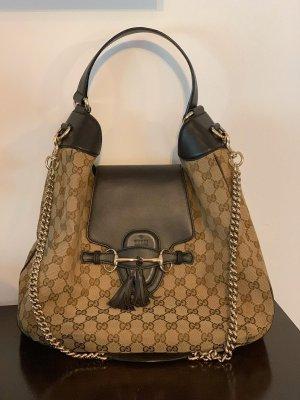 Gucci Shopper beige-dark brown