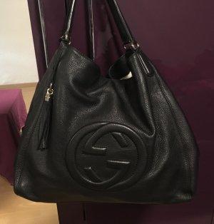 Gucci Sac noir-brun sable cuir