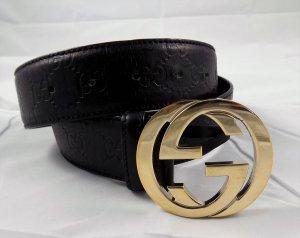 Gucci Signature Gürtel schwarz Größe 90