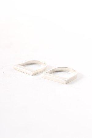 Gucci Zilveren ring zilver klassieke stijl