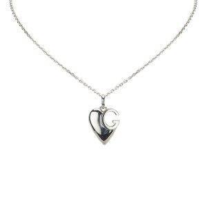 Gucci Silver Heart Pendant Necklace