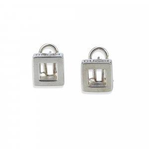 Gucci Earring silver-colored real silver