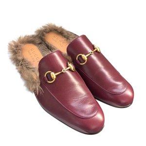 Gucci Slingback Ballerinas bordeaux leather